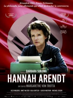 """En 1961, la philosophe allemande Hannah Arendt, résidente à New-York, est envoyée à Jérusalem par le New Yorker pour couvrir le procès d'Adolf Eichmann, responsable de la déportation de millions de juifs.  Les articles qu'elle publie et sa théorie de """"La banalité du mal"""" déclenchent une controverse sans précédent.  Son obstination et l'exigence de sa pensée se heurtent à l'incompréhension de ses proches et provoquent son isolement.  Film allemand de Margarethe Von Trotta, sorti en France le 24/04/2013, avec Janet Mcteer, Julia Jentsch, Ulrich Noethen, et Michael Degen.  LIRE LA CRITIQUE"""