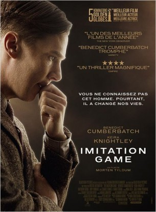 En 1940, Alan Turing, mathématicien, cryptologue, est chargé par le gouvernement britannique de percer le secret de la célèbre machine de cryptage allemande Enigma, réputée inviolable.  Film américano-britannique de Morten Tyldum, sorti le 28 janvier en France avec Benedict Cumberbatch, Keira Knightley, Matthew Goode.