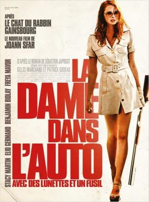 Dany est une jeune secrétaire dont le patron d'une agence de publicité lui demande de venir taper un rapport chez lui.  Elle est la plus rousse, la plus myope, la plus sentimentale, la plus menteuse, la plus vraie, la plus déroutante, la plus obstinée, la plus inquiétante des héroïnes.  La dame dans l'auto n'a jamais vu la mer, elle fuit la police et se répète sans cesse qu'elle n'est pas folle… Pourtant…  Film franco-belge de Joann Sfar, sorti en France le 5 Août 2015, avec Freya Mavor, Benjamin Biolay, Elio Germano et Stacy Martin.  LIRE LA CRITIQUE