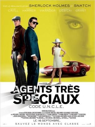 Au début des années 60, en pleine guerre froide, Agents très spéciaux retrace l'histoire de l'agent de la CIA Solo et de l'agent du KGB Kuryakin.  Contraints de laisser de côté leur antagonisme ancestral, les deux hommes s'engagent dans une mission conjointe : mettre hors d'état de nuire une organisation criminelle.  Pour l'heure, Solo et Kuryakin n'ont qu'une piste : le contact de la fille d'un scientifique allemand porté disparu, le seul à même d'infiltrer l'organisation criminelle.  Ils se lancent dans une course contre la montre pour retrouver sa trace et empêcher un cataclysme planétaire.  Film américain de Guy Ritchie, sorti en France le 16 septembre, avec Henry Cavill, Armie Hammer, Alicia Vikander, Elizabeth Debicki et Luca Calvani.  LIRE LA CRITIQUE