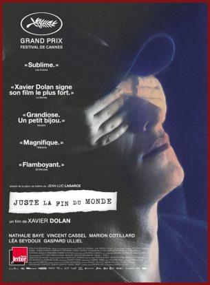 Après douze ans d'absence, un écrivain retourne dans son village natal pour annoncer à sa famille sa mort prochaine.  Ce sont les retrouvailles avec le cercle familial où l'on se dit l'amour que l'on se porte à travers les éternelles querelles, et où l'on dit malgré nous les rancoeurs qui parlent au nom du doute et de la solitude.  Film franco-canadien de Xavier Dolan, sorti en France le 21 septembre 2016 avec Gaspard Ulliel, Nathalie Baye, Léa Seydoux, Vincent Cassel et Marion Cotillard.  LIRE LA CRITIQUE
