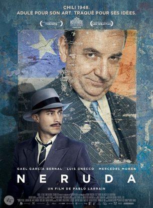 En 1948, au Congrès, le sénateur Pablo Neruda critique ouvertement le gouvernement. Le président Videla demande alors sa destitution et confie au redoutable inspecteur Óscar Peluchonneau le soin de procéder à l'arrestation du poète. Neruda et son épouse, la peintre Delia del Carril, échouent à quitter le pays et sont alors dans l'obligation de se cacher.  Dans ce jeu du chat et de la souris, Neruda voit l'occasion de se réinventer et de devenir à la fois un symbole pour la liberté et une légende littéraire.  Film franco-chilien de Pablo Larraín sorti en France le 4 janvier 2017, avec Luis Gnecco, Gael García Bernal, Mercedes Morán et Diego Muñoz.  LIRE LA CRITIQUE