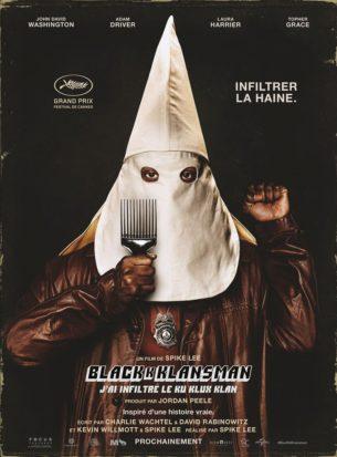 Ron Stallworth est le premier officier Noir américain du Colorado Springs Police Department, mais son arrivée est accueillie avec scepticisme, voire avec une franche hostilité, par les agents les moins gradés du commissariat. Prenant son courage à deux mains, Stallworth va tenter de faire bouger les lignes et, peut-être, de laisser une trace dans l'histoire. Il se fixe alors une mission des plus périlleuses : infiltrer le Ku Klux Klan pour en dénoncer les exactions.  Film américain de Spike Lee, sorti en France le 22 Août 2018 avec John David Washington, Adam Driver, Topher Grace et Laura Harrier.   LIRE LA CRITIQUE