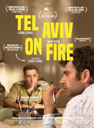 """Salam, 30 ans, vit à Jérusalem. Il est Palestinien et stagiaire sur le tournage de la série arabe à succès """"Tel Aviv on Fire !""""  Tous les matins, il traverse le même check-point pour aller travailler à Ramallah.  Un jour, Salam se fait arrêter par un officier israélien Assi, fan de la série, et pour s'en sortir, il prétend en être le scénariste. Pris à son propre piège, Salam va se voir imposer par Assi un nouveau scénario.  Evidemment, rien ne se passera comme prévu.  Film israélien de Sameh Zoabi, sorti en France le 3 avril 2019, avec Kais Nashif, Lubna Azaba et Yaniv Biton.  LIRE LA CRITIQUE"""