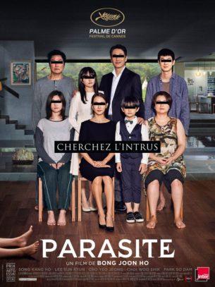 oute la famille de Ki-taek est au chômage, et s'intéresse fortement au train de vie de la richissime famille Park. Un jour, leur fils réussit à se faire recommander pour donner des cours particuliers d'anglais chez les Park. C'est le début d'un engrenage incontrôlable...  Film coréen de Bong Joon Ho, sorti en France le 05/06/2019 avec Song Kang-Ho, Lee Sun-kyun et Cho Yeo-jeong.  LIRE LA CRITIQUE