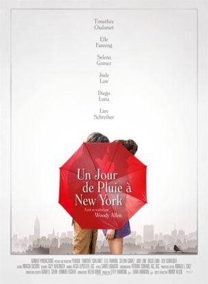 Deux étudiants, Gatsby et Ashleigh, envisagent de passer un week-end en amoureux à New York.  Mais leur projet tourne court, aussi vite que la pluie succède au beau temps…  Bientôt séparés, chacun des deux tourtereaux enchaîne les rencontres fortuites et les situations insolites.  Film américain de Woody Allen, sorti en France le 18 septembre 2019 avec Timothée Chalamet, Elle Fanning, Selena Gomez et Jude Law.  LIRE LA CRITIQUE