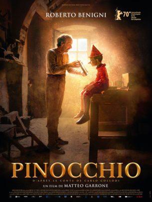 Geppetto, un pauvre menuisier, fabrique dans un morceau de bois un pantin qu'il prénomme Pinocchio. Le pantin va miraculeusement prendre vie et traverser de nombreuses aventures.  Film italien de Matteo Garrone sorti sur PrimeVideo le 3 mai 2020 avec  Roberto Benigni, Federico Ielapi et Gigi Proietti.  LIRE LA CRITIQUE